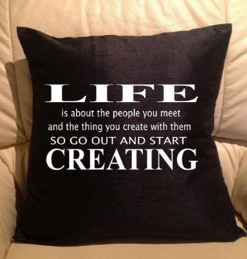 Life text pillow, sofa cushions